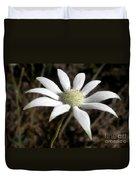 Flannel Flower Duvet Cover
