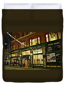 Flannerys Pub Duvet Cover by Frozen in Time Fine Art Photography