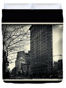 Flat Iron Building Fifth Avenue And Broadway Duvet Cover by Sabine Jacobs