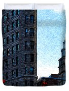 Flat Iron Nyc Duvet Cover by Sabine Jacobs