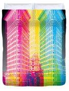 Flat Iron Pop Art Duvet Cover by Gary Grayson