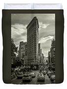 Flatiron Building - Black And White Duvet Cover