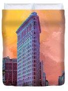 Flatiron Building At Sunset Duvet Cover