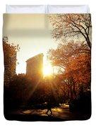 Flatiron Building Sunset - Madison Square Park Duvet Cover