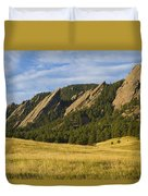 Flatiron Morning Light Boulder Colorado Duvet Cover
