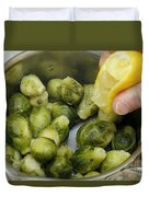 Flavoring Brussels Sprouts Duvet Cover