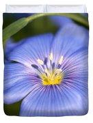 Flax Flower Duvet Cover