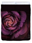 Fleur Pourpre Duvet Cover by John Edwards