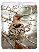Flicker - Alabama State Bird - Attention Duvet Cover