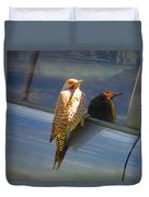 Yellow Shafted Northern Flicker Hanging Around Duvet Cover