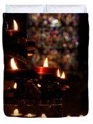 Flickering Prayers Duvet Cover