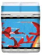 Flight Of Magical Gulls Anime Duvet Cover
