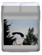 Flight Of The Black Crow Duvet Cover