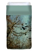 Flight Of The Forest Crows Duvet Cover
