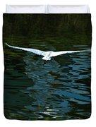 Flight Of The Egret Duvet Cover
