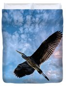 Flight Of The Heron Duvet Cover
