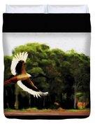 Flight Of The Jabiru V2 Duvet Cover