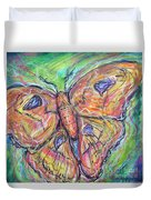 Flight Of The Moth Duvet Cover