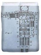 Flight Suit Patent Duvet Cover