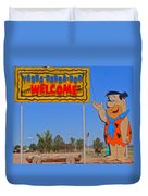 Flinstones Bedrock City In Arizona Duvet Cover