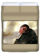 Flirting Turkey Buzzard  Duvet Cover