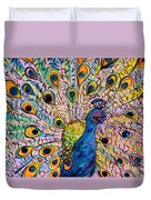 Flirty Peacock Duvet Cover