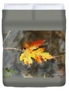 Floating Autumn Leaf Duvet Cover