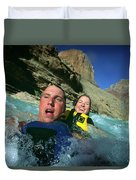 Floating Down The Little Colorado River Duvet Cover