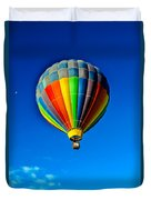 Floating Free In A Hot Air  Balloon Duvet Cover