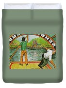 Floating Gardens Xochimilcho Mexico Duvet Cover