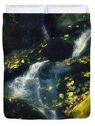 Floating Leaves Duvet Cover