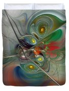 Floating Lightness-abstract Art Duvet Cover