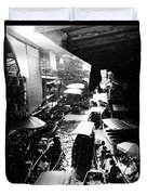 Floating Markets In Black And White Duvet Cover