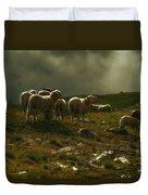 Flock Of Sheep Duvet Cover