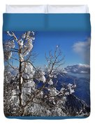 Flocked Pinon Duvet Cover