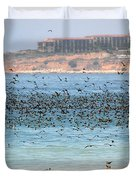 Flocking At Terranea Duvet Cover