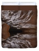 flooded Ohio cave Duvet Cover