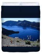 Flora Of Crater Lake Duvet Cover