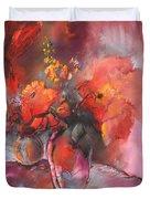 Floral 01 Duvet Cover by Miki De Goodaboom