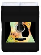 Floral Abstract Guitar 14 Duvet Cover