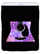 Floral Abstract Guitar 29 Duvet Cover