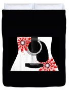 Floral Abstract Guitar 33 Duvet Cover