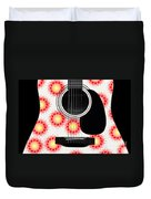 Floral Abstract Guitar 8 Duvet Cover