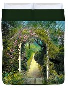Floral Arch And Path Duvet Cover