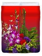 Floral Arrangement Duvet Cover by Chuck Staley