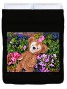 Floral Bear Duvet Cover
