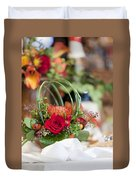 Floral Centerpiece Duvet Cover