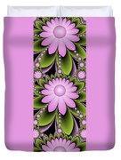 Floral Decorations Duvet Cover