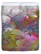 Floral Fantasy - Square Version Duvet Cover