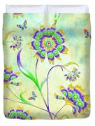 Floral Flirty And Fun  Duvet Cover